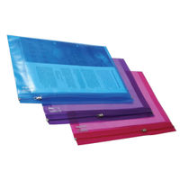 Rapesco A4 Zippi Bags, Assorted Colours - Pack of 25 - HT40363