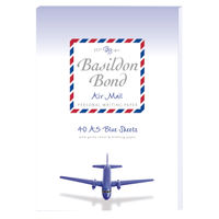 Basildon Bond A5 Airmail Writing Pad, Blue, Pack of 10 - JD90361