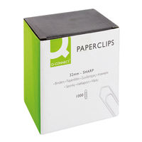 Basics Large No Tear Paperclips 32mm