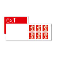 1st Class Stamps x 6 Pack - (Postage Stamp Book)