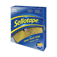 View more details about Sellotape Sticky Hook Strip 25mmx12m 1445179