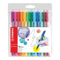 Stabilo Assorted Point Max Fineliner Pens, Pack of 12 - 488/12-01