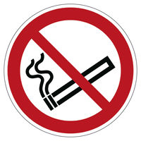 Durable Smoking Prohibited Floor Sign