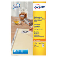 Avery Laser Mini Labels, 45.7 x 21.2mm, White (Pack of 1200) - L4736REV-25