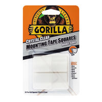 Gorilla Clear Mounting Tape Squares, Pack of 24 - 3044111