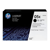 View more details about HP 05X Black Laserjet Toner Cartridge (Pack of 2) CE505XD