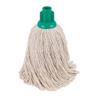 2Work Green 14oz Twine Rough Socket Mops (Pack of 10) PJTG1410I