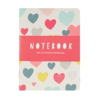 Go Stationery Hearts Pocket Notebooks, Pack of 3 - MIN405