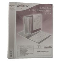 Snopake Clear A4 Executive Presentation 4 D-Ring Binder 25mm - SK04439