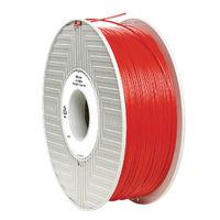 Verbatim Red 1.75mm PLA 3D Printing Filament, 1kg Reel - 55270