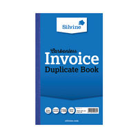 View more details about Silvine Carbonless Invoice Duplicate Book, 100 Pages (Pack of 6) - 711-T