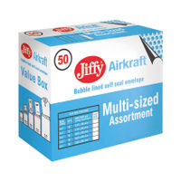 Jiffy Airkraft Gold Assorted Mailers, Pack of 50 - JL-SEL-A