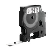 View more details about Dymo D1 Permanent Label Tape Black on White - 16959 / S0718060