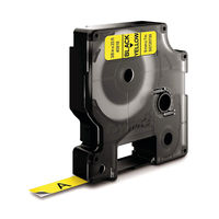 View more details about Dymo D1 Standard Label Tape Black on Yellow - S0720730