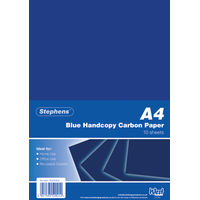 Stephens Blue A4 Handcopy Carbon Paper - 100 Sheets - RS520252