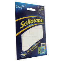 Sellotape Sticky Fixers 12mm x 25mm Permanent (Pack of 56)  - 484331