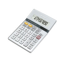 Sharp Silver Semi Desktop Calculator, 10 Digit Display - EL-331ER