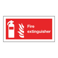 Safety Sign Fire Extinguisher Symbol 100 x 200mm - F16D/S