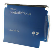 Rexel Crystalfile Extra 275mm Lateral File, 30mm, Blue - Pack of 25 - 70642