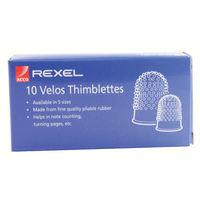 Velos Orange Perforex Size 0 Thimblette, Pack of 10 - VL20304