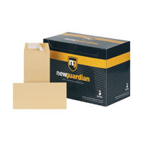 View more details about New Guardian Manilla Peel and Seal DL Envelopes 130gsm (Pack of 500) - E26503