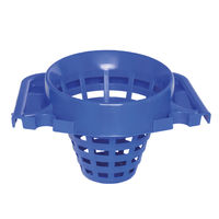 View more details about 2Work Plastic Mop Bucket with Wringer 15 Litre Blue 102946BU