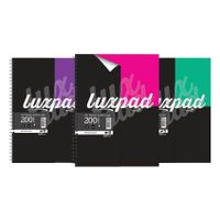 Silvine Assorted A4+ Luxpad Hardback Wirebound Notebooks, Pack of 3 - LUXA4FM