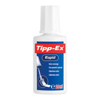 Tipp-Ex White Rapid Correction Fluid 20ml, Pack of 10 - 8012969