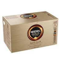 Nescafe Gold Blend Instant Coffee One Cup Sticks, Pack of 200 - NL72757