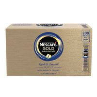 Nescafe Gold Blend Decaffeinated Coffee One Cup Sticks, Pack of 200 - NL72759