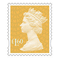 Royal Mail £1.60 Postage Stamps x 25 Pack (Self Adhesive Stamp Sheet)