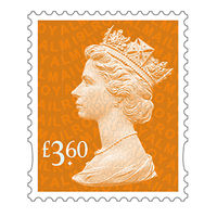 Royal Mail £3.60 Postage Stamps x 25 Pack (Self Adhesive Stamp Sheet)