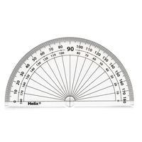 Helix 10cm 180 Degree Protractors, Pack of 50 - H02040