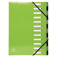 Iderama 12 Part File, Lime Green - 53923E