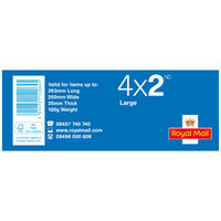 2nd Class Large Stamps x 100 Pack (25 Stamp Books of 4)