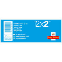 2nd Class Stamps x 12 Pack - (Postage Stamp Book)