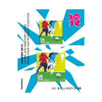 London 2012 Olympic and Paralympic Sports Football Stamp and Pin Badge - NB060