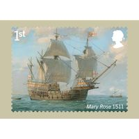 The Royal Navy Ships Stamp Card Pack