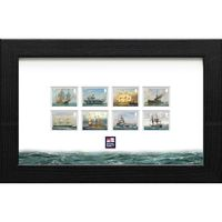 The Royal Navy Ships Framed Stamp Set