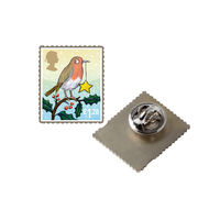 Christmas 2012 Pin Badge £1.28 Stamp - NB134