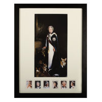 The Queen's Royal Portraits Framed Print and Stamp Set – N3036