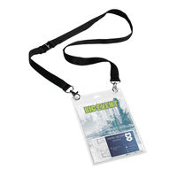 Durable A6 Name Badge with Textile Necklace, Pack of 10 - 852501