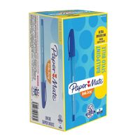 View more details about Paper Mate Inkjoy 100 Stick Blue Ballpoint Pens, Pack of 50 - S0957130