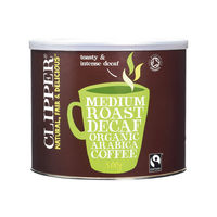 View more details about Clipper Fairtrade Organic Decaffeinated Coffee Tin 500g A06746
