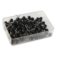 View more details about Black Map Pins, Pack of 100 - WS26890