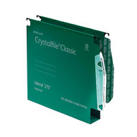 Rexel Crystalfile Classic 275mm Lateral File, 50mm, Green - Pack of 50 - 71762