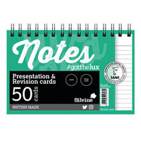 Silvine White Twin Wire Revision and Presentation Cards, Pack of 10 - PADRC64-C