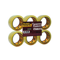Scotch Low Noise Clear Storage Packing Tape, 48mm x 66m - Pack of 6 - 3M82909