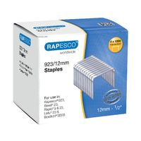 View more details about Rapesco No.923 / 12mm Metal Staples, Pack of 4000 - S92312Z3