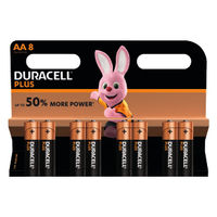 View more details about Duracell Plus AA Batteries, Pack of 8 - 81275377